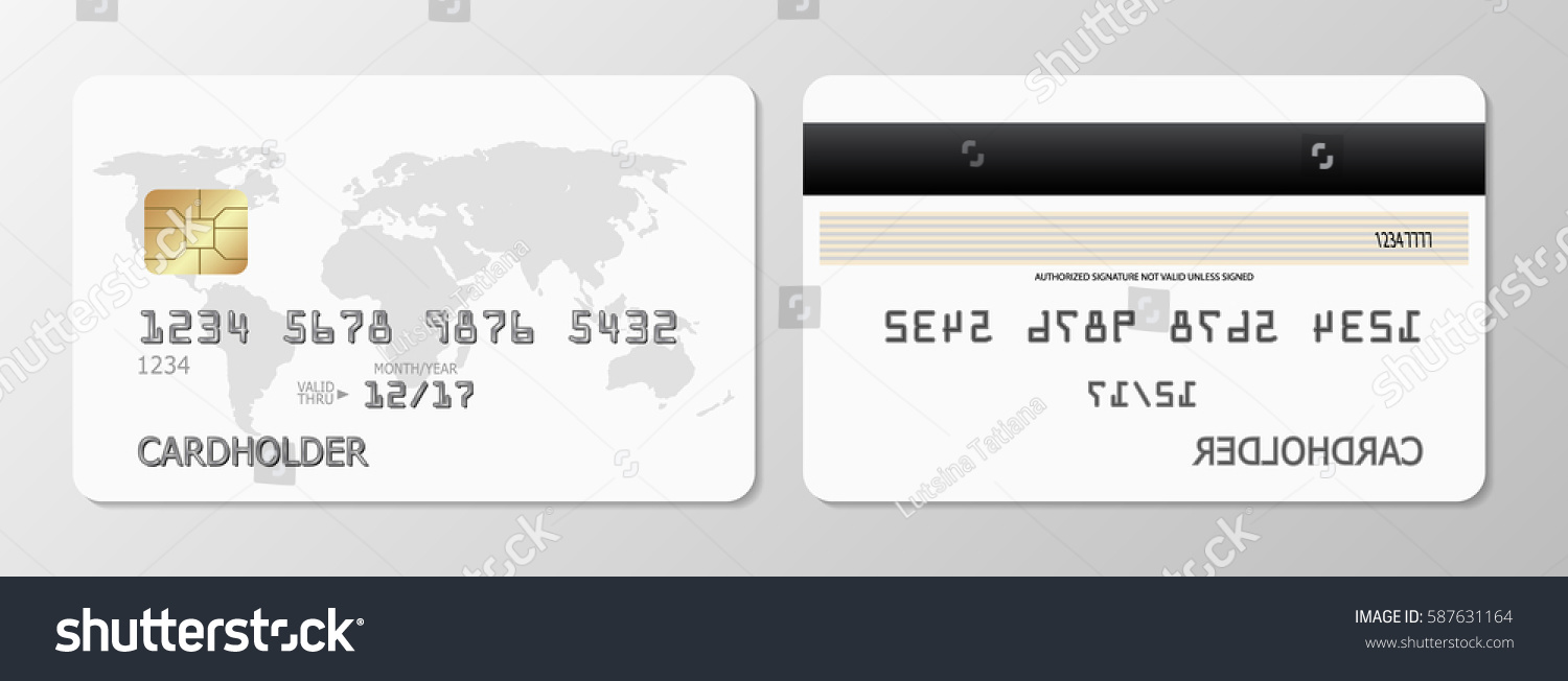 Vector Credit Cards Front Back View Stock Vector Royalty Free