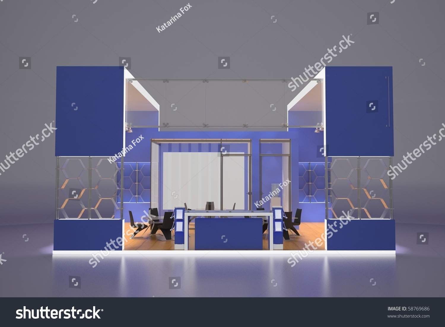 Modern Exhibition Stand Vector : D render of modern exhibition stand stock photo