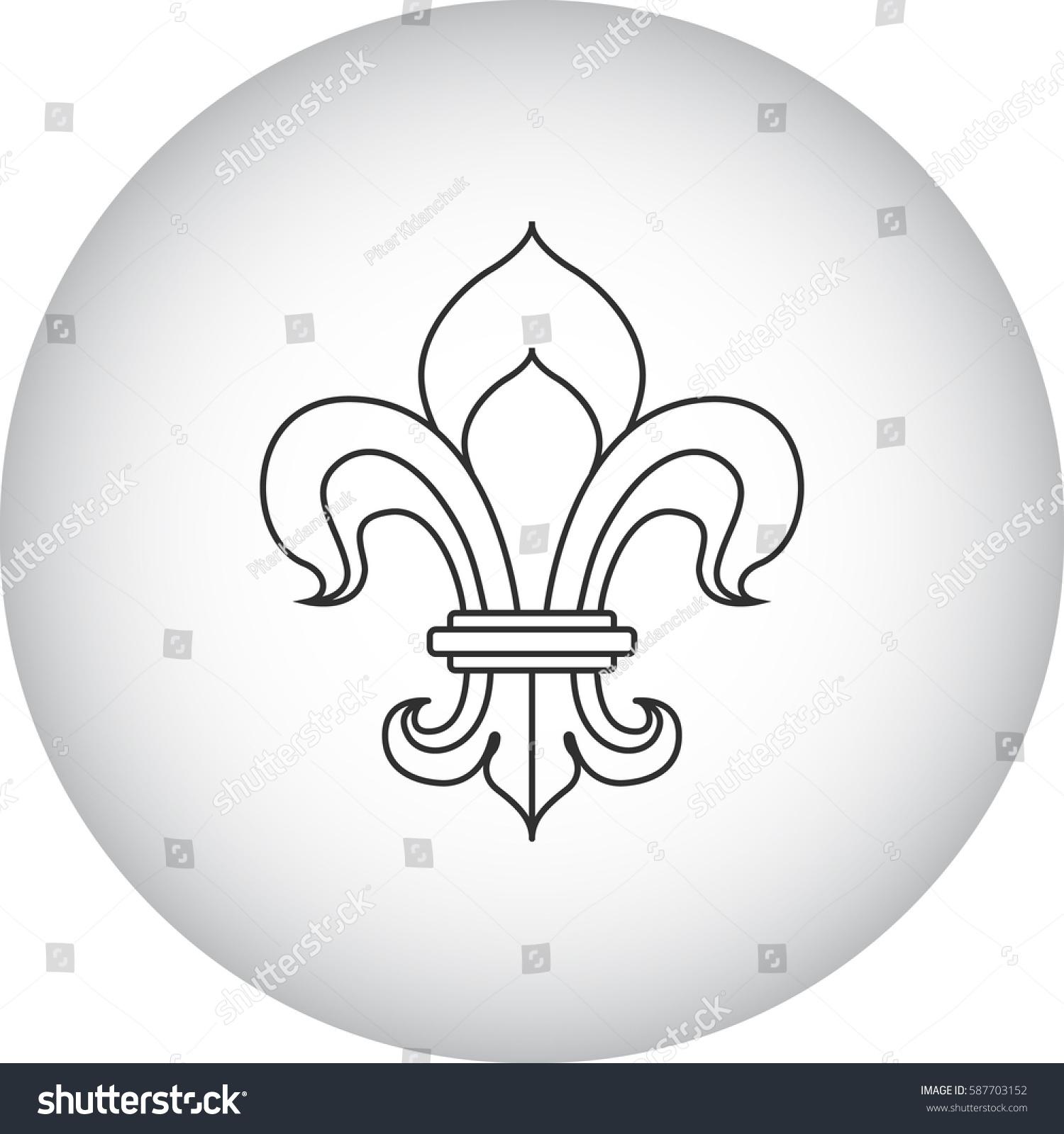 Royal Lily Fleur De Lis Symbol Stock Vektorgrafik Lizenzfrei