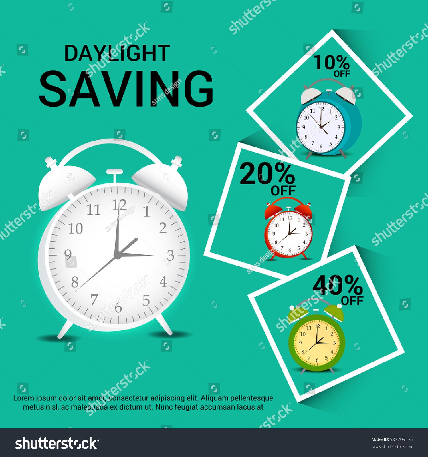 Vector Illustration Banner Daylight Saving Time Stock ...