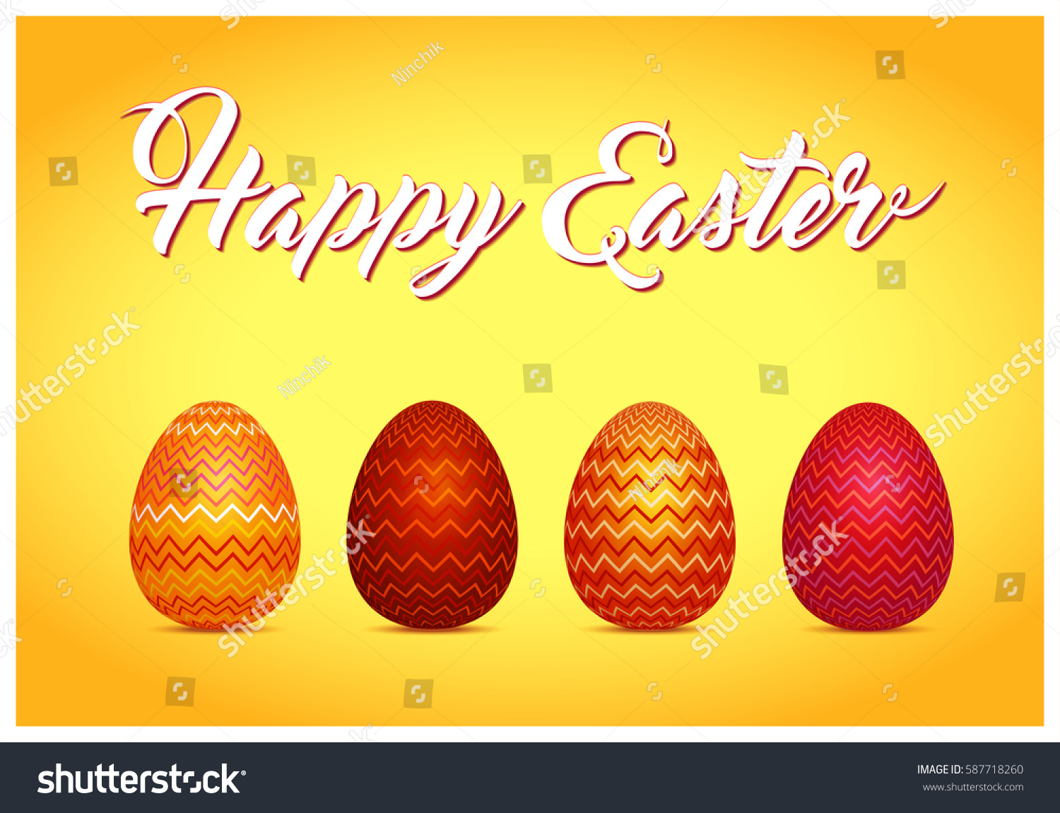 Easter Card Words Happy Easter Easter Stock Vector Royalty Free