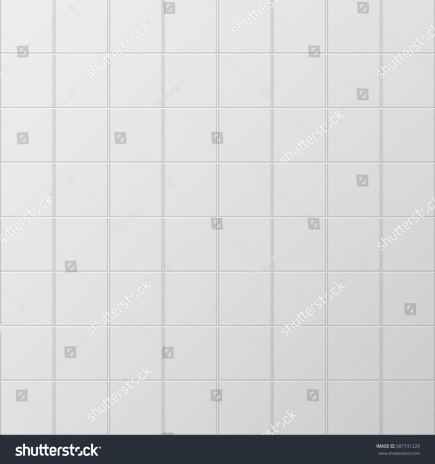Subway Tile Background Illustration Rectangular Horizontal White Tiles Background Stock