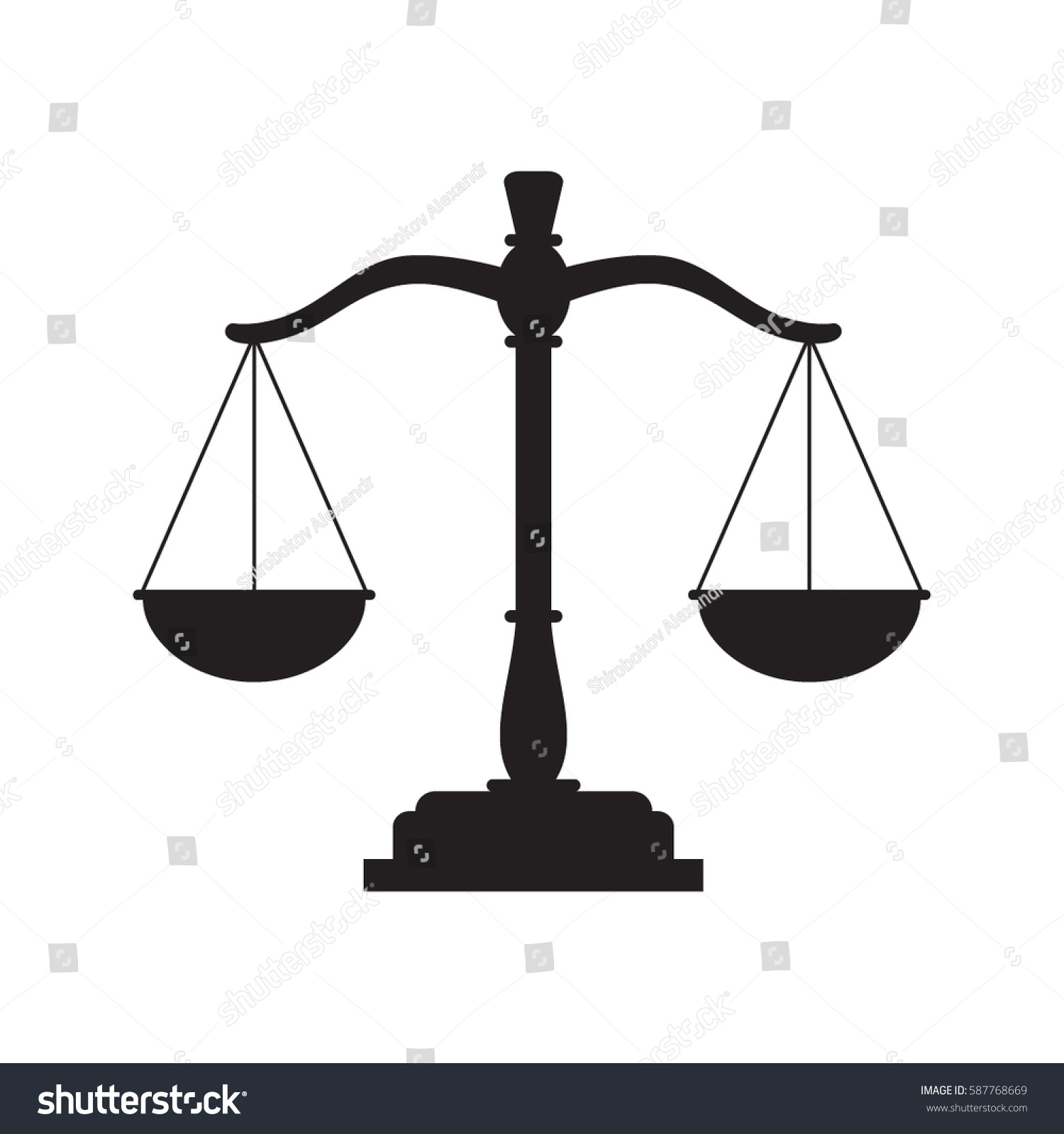 Black justice scales icon law balance stock vector 587768669 black justice scales icon law balance symbol libra in flat design vector illustration biocorpaavc Choice Image