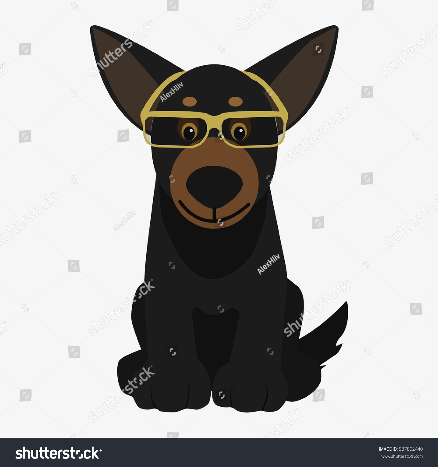 Cartoon Characters W Glasses : The gallery for gt black dog cartoon character