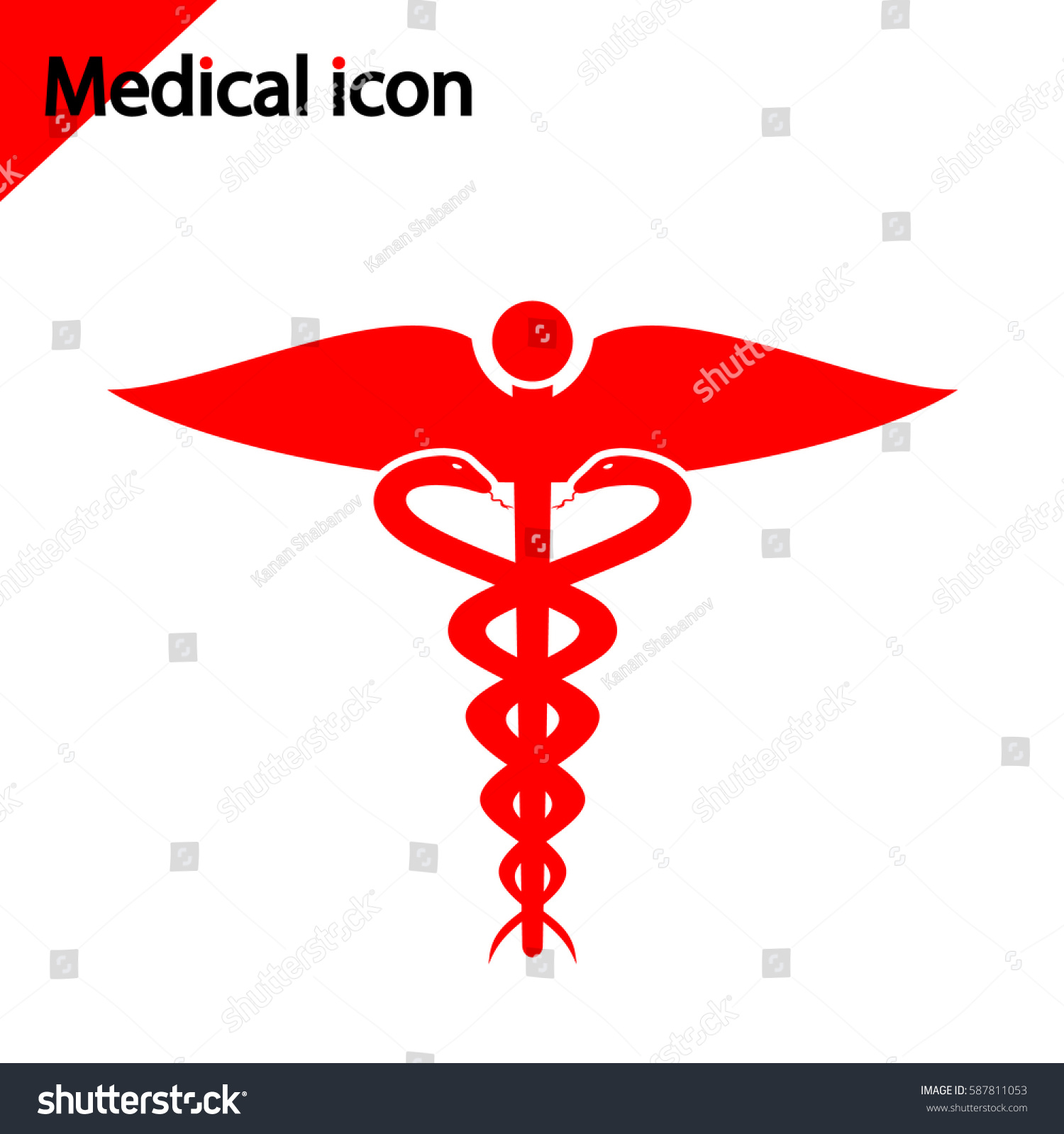Medical Icon On White Background Red Stock Vector Royalty Free