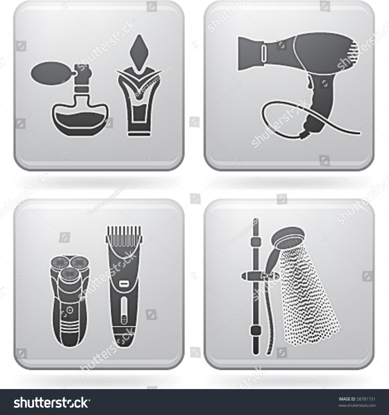 Bathroom utensils stock vector illustration 58781731 for Bathroom utensils