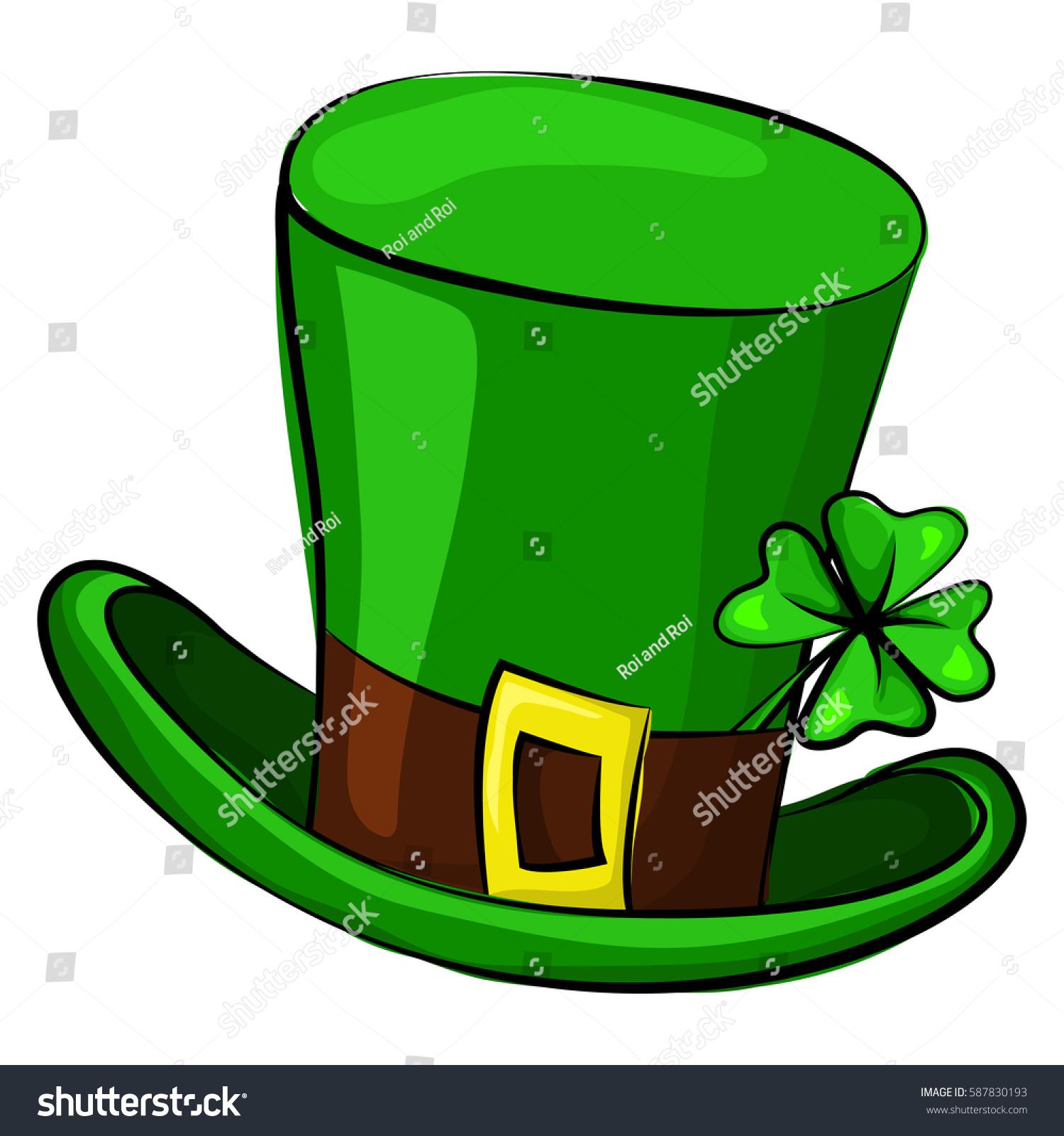 St Patricks Day Leprechaun Hat Four Stock Vector 587830193 ...