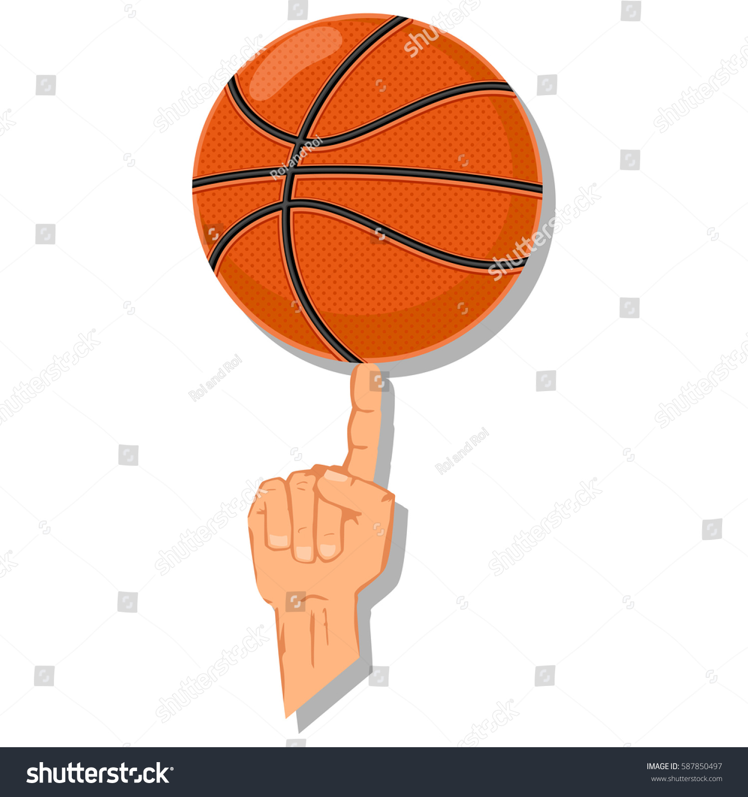 Spinning basketball on finger