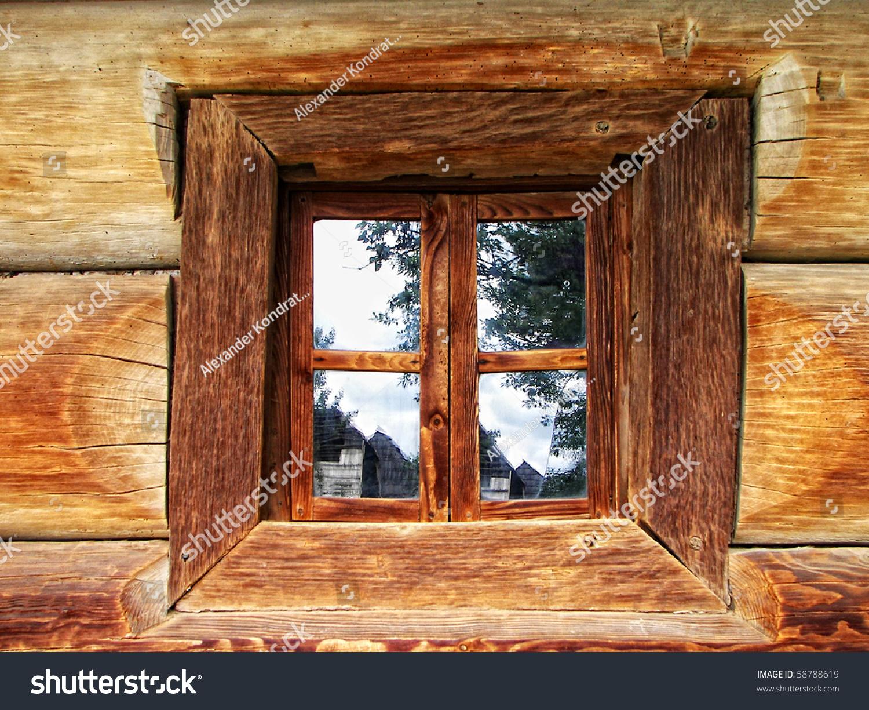 Old Wooden Window Stock Photo 58788619 Shutterstock