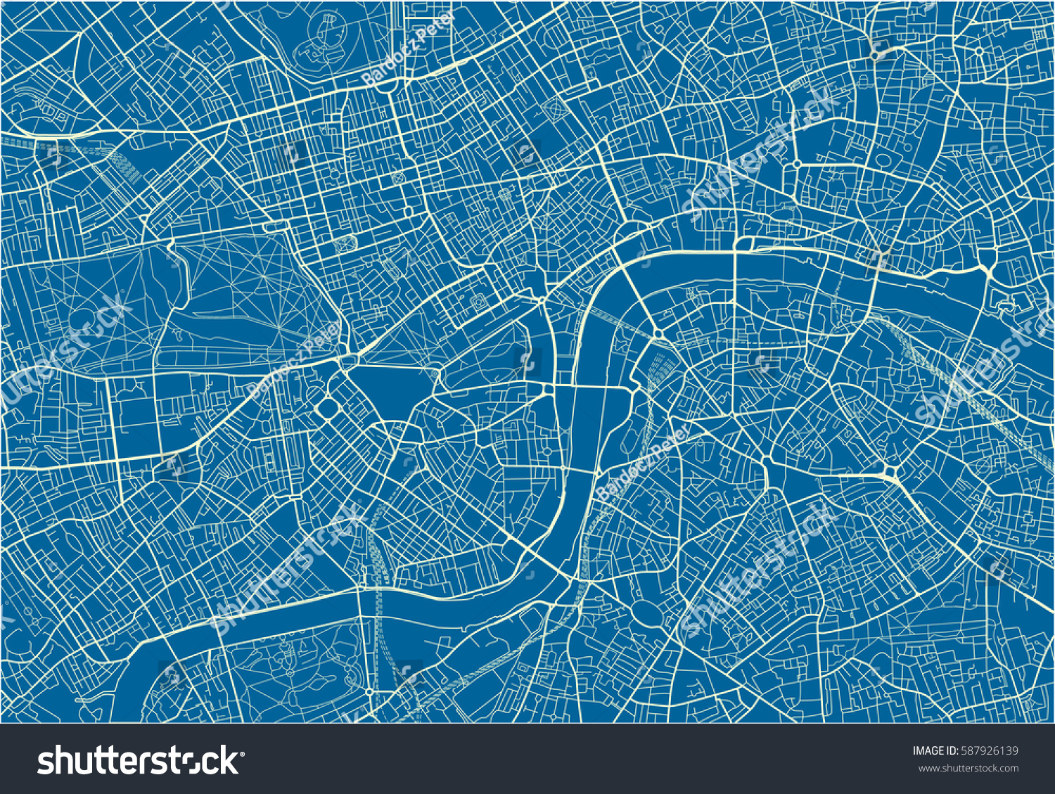 blue white vector city map london stock vector royalty free