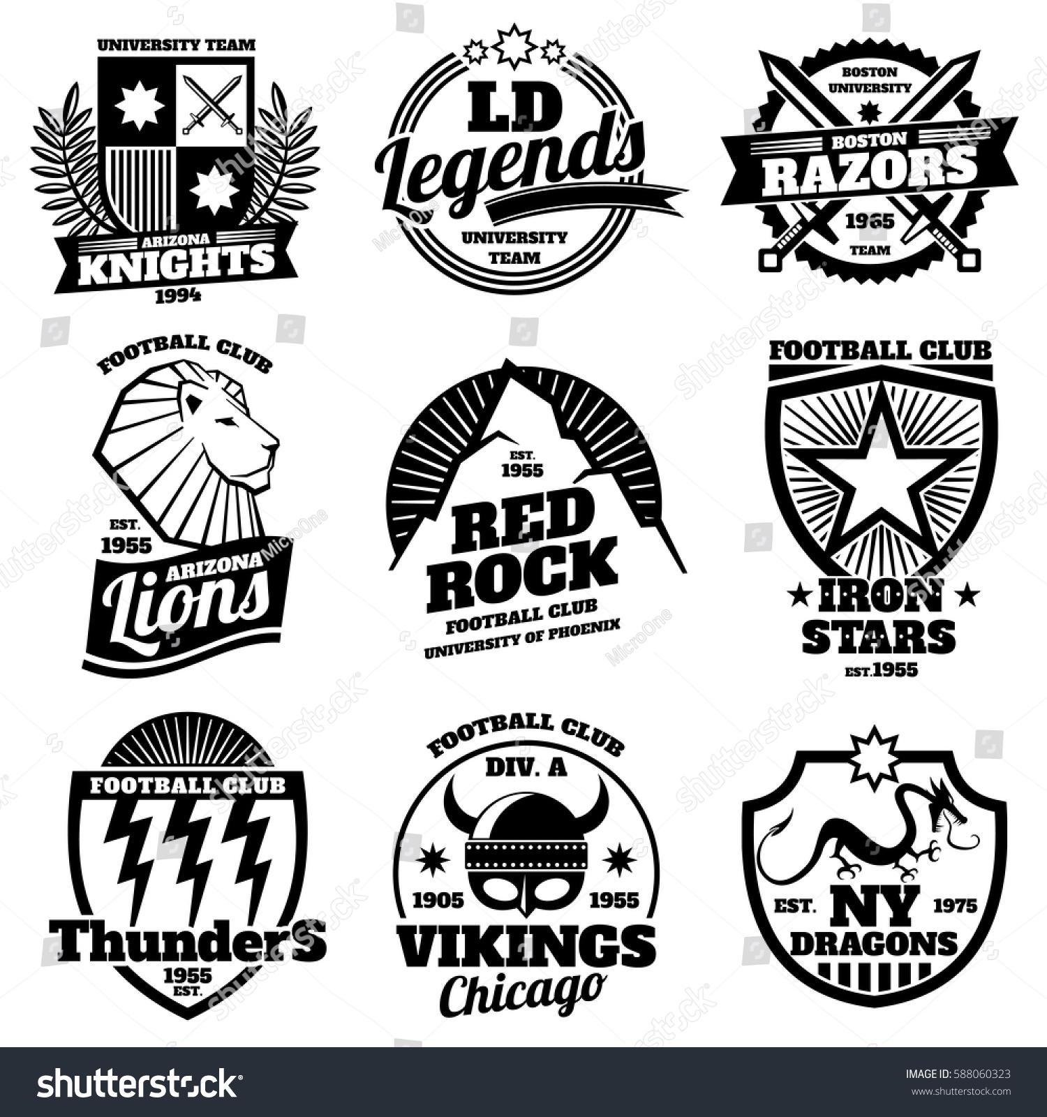 Design t shirt university - College Athletic Labels Varsity Emblems Vintage Sports Teams Badges University T Shirt Design