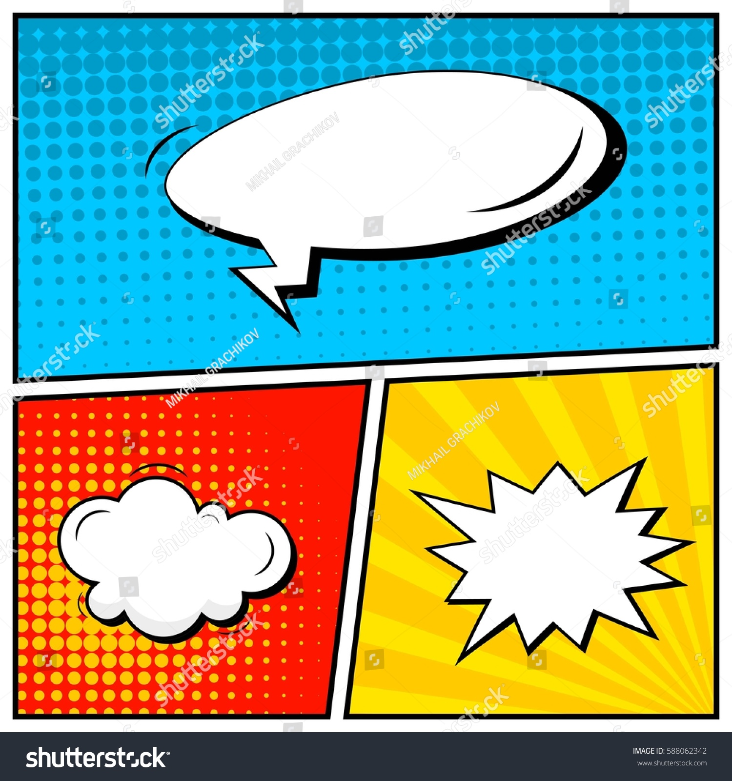 abstract creative concept vector comic pop のベクター画像素材