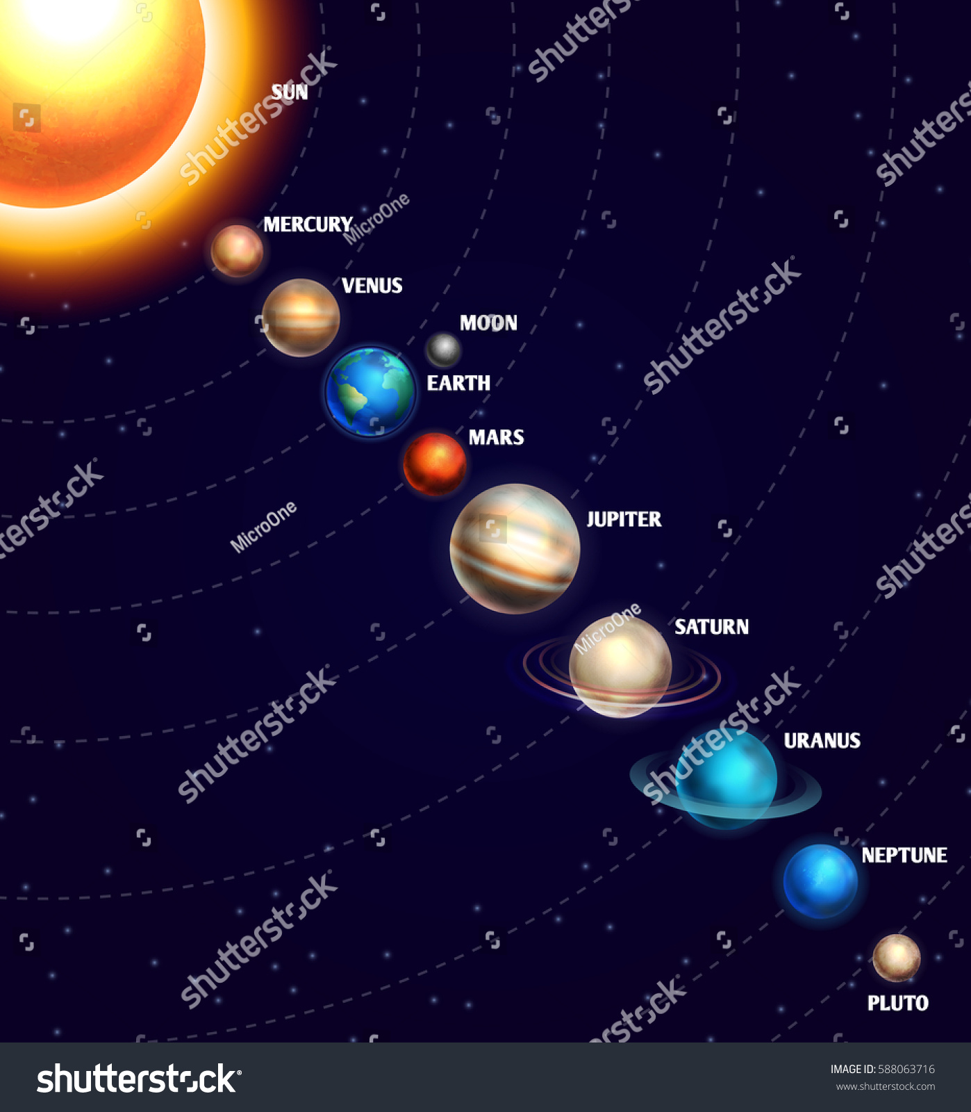 starry sky with planets - photo #33