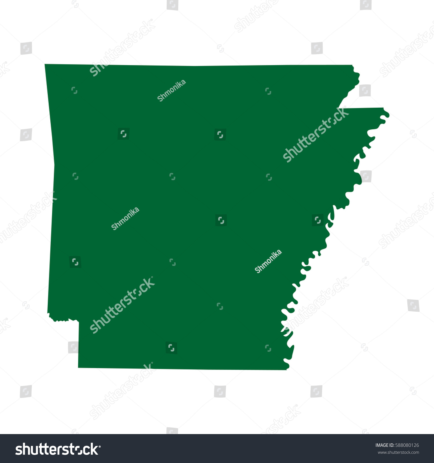 Map Us State Arkansas Stock Vector Shutterstock - Arkansas on a us map