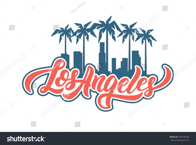 Los Angeles Lettering Tshirt Design Vector Stock Vector Royalty Free 588100538,Clash Of Clans Builder Hall 4 Base Design