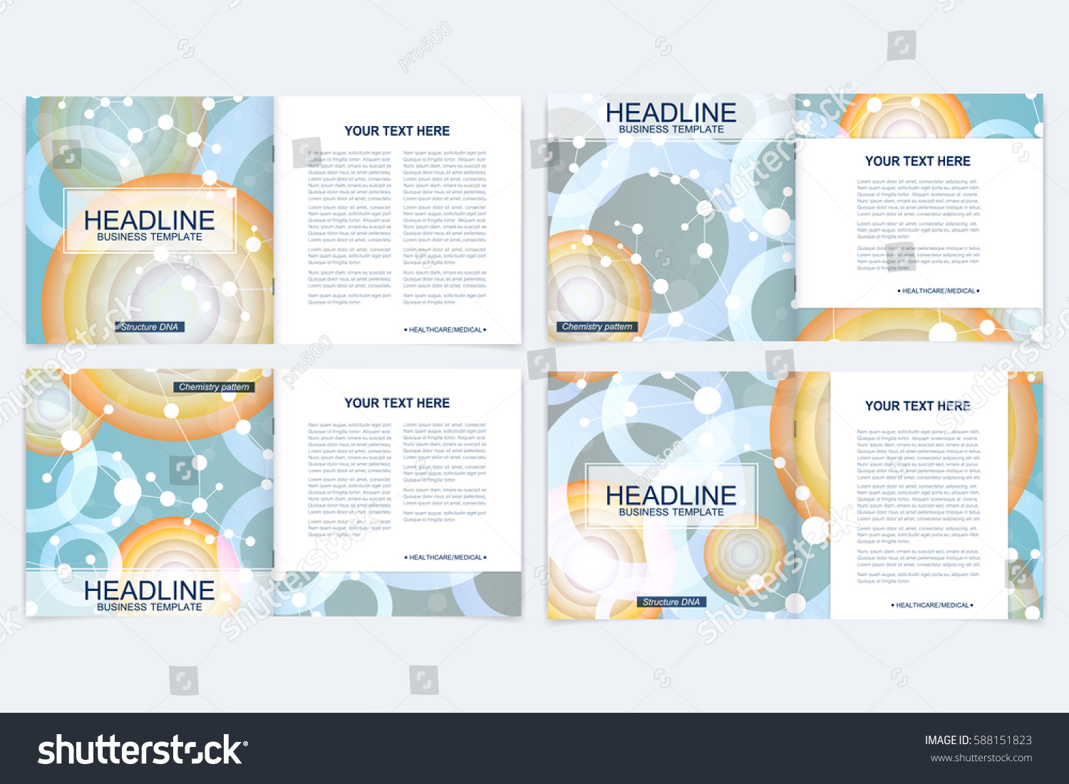 Templates Square Brochure Leaflet Cover Presentation Stock Vector ...
