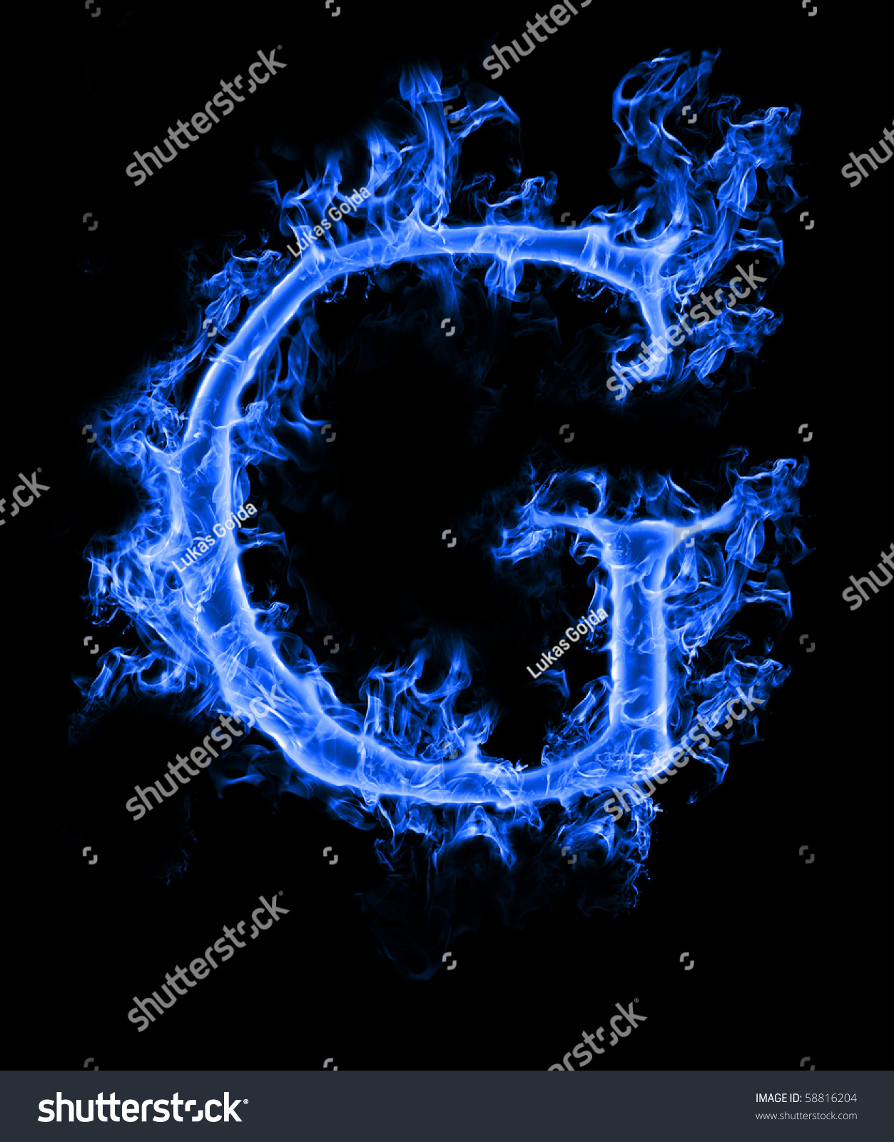 "Blue Smoke Letter ""G"" Stock Photo 58816204 : Shutterstock"