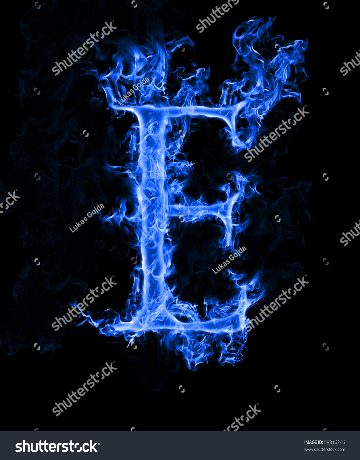 "Blue Smoke Letter ""E"" Stock Photo 58816246 : Shutterstock"