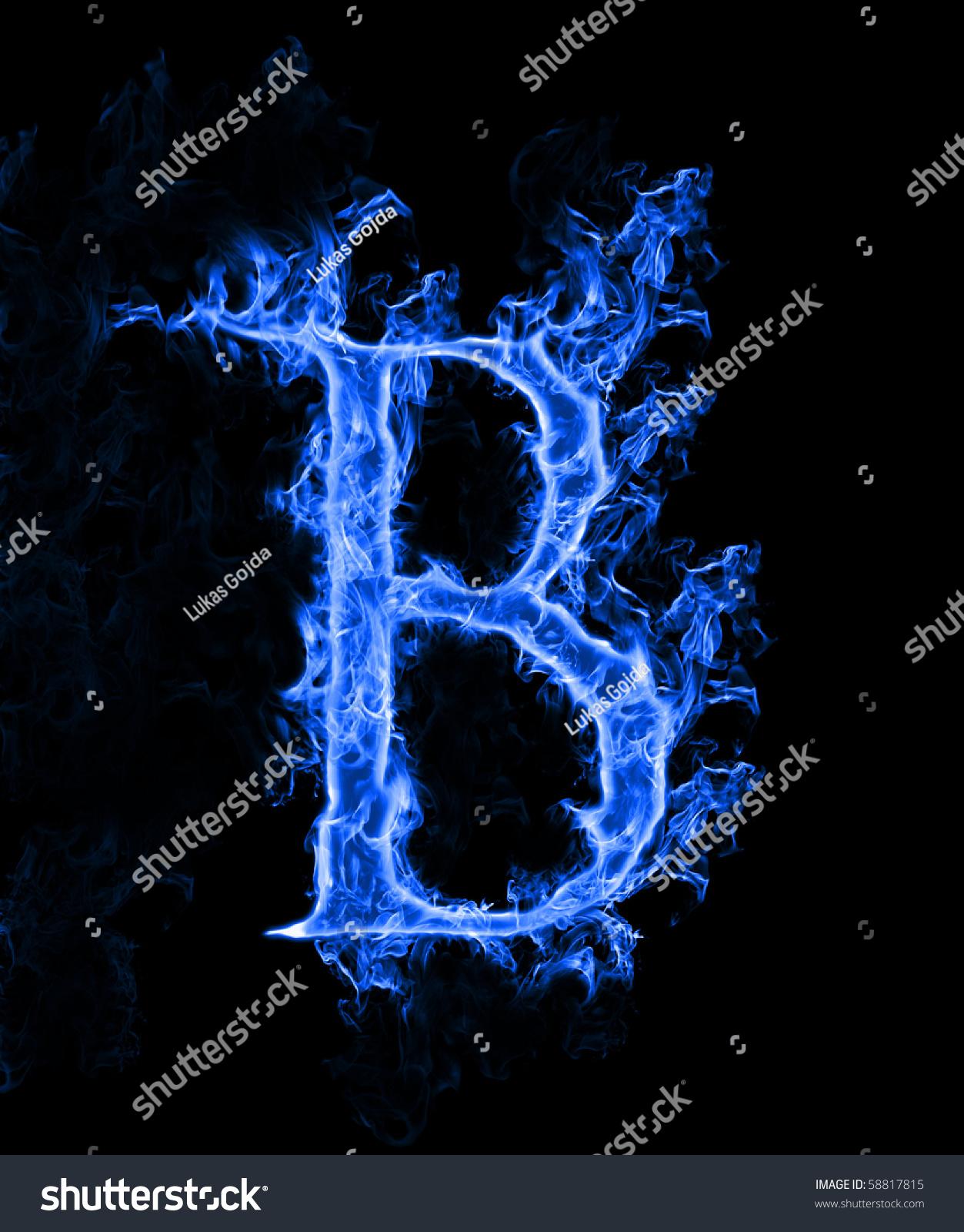 Blue Smoke Letter B Stock Photo 58817815 - Shutterstock