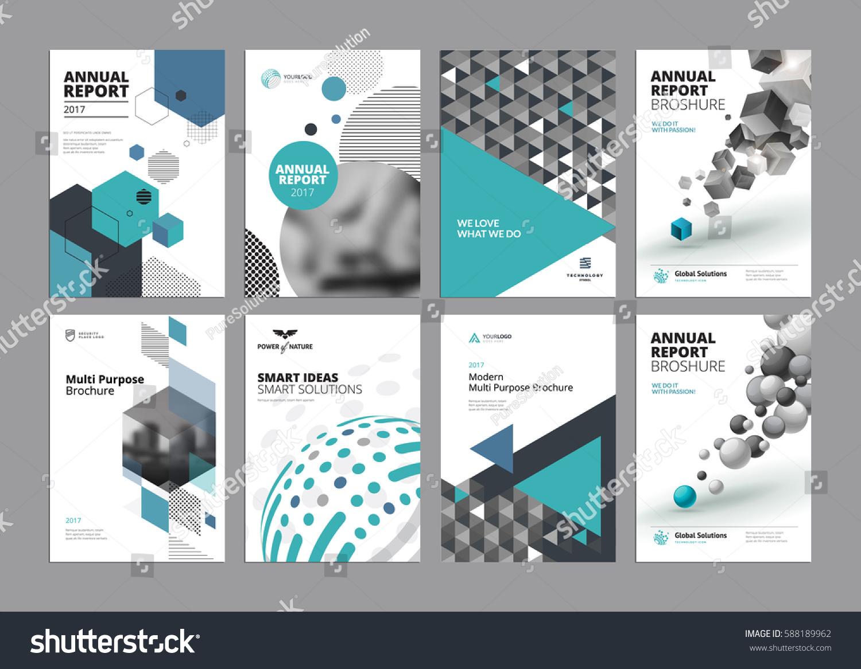 set modern business paper design templates stock vector royalty