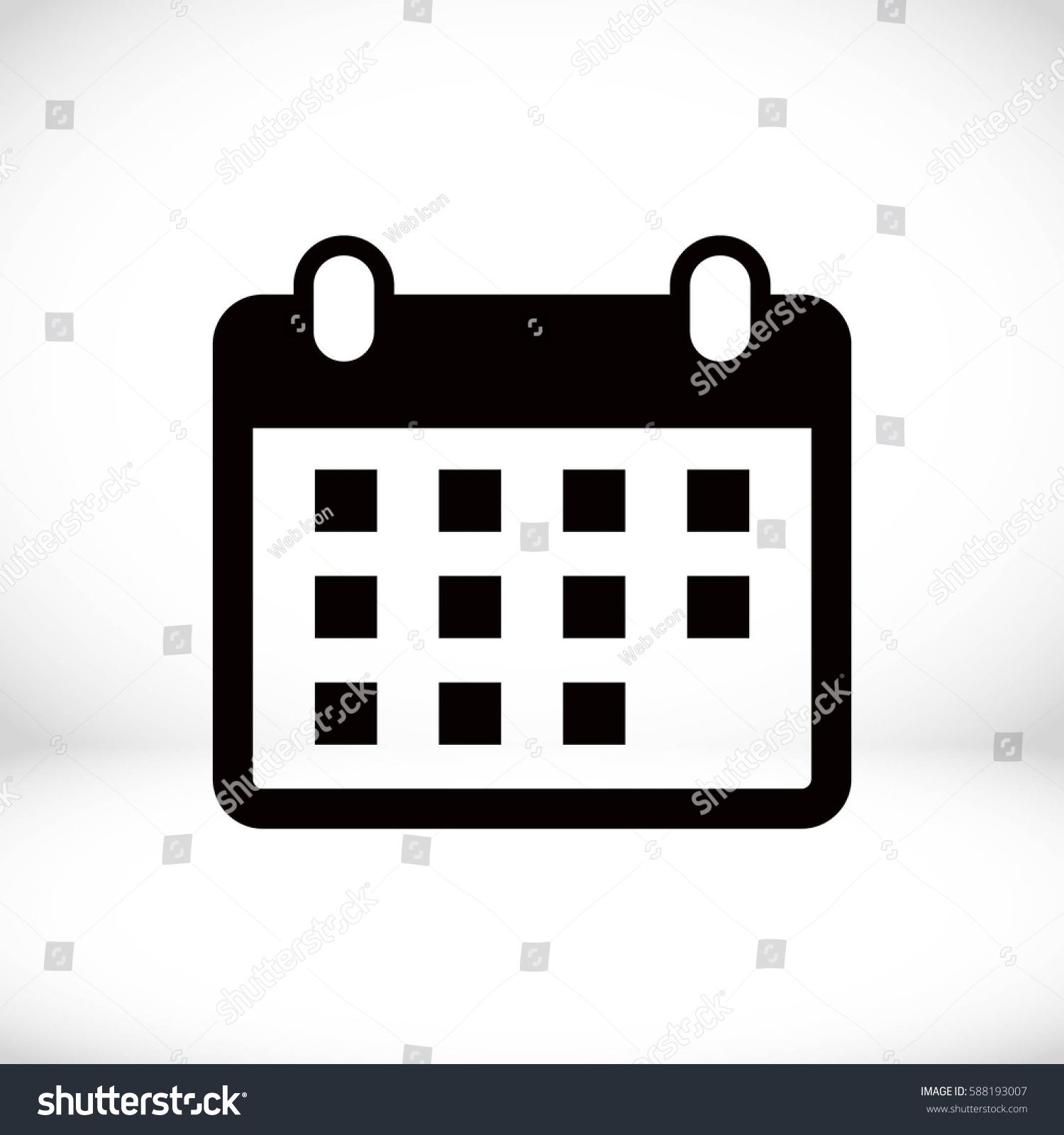 Calendar Illustration Vector : Calendar icon stock vector illustration flat