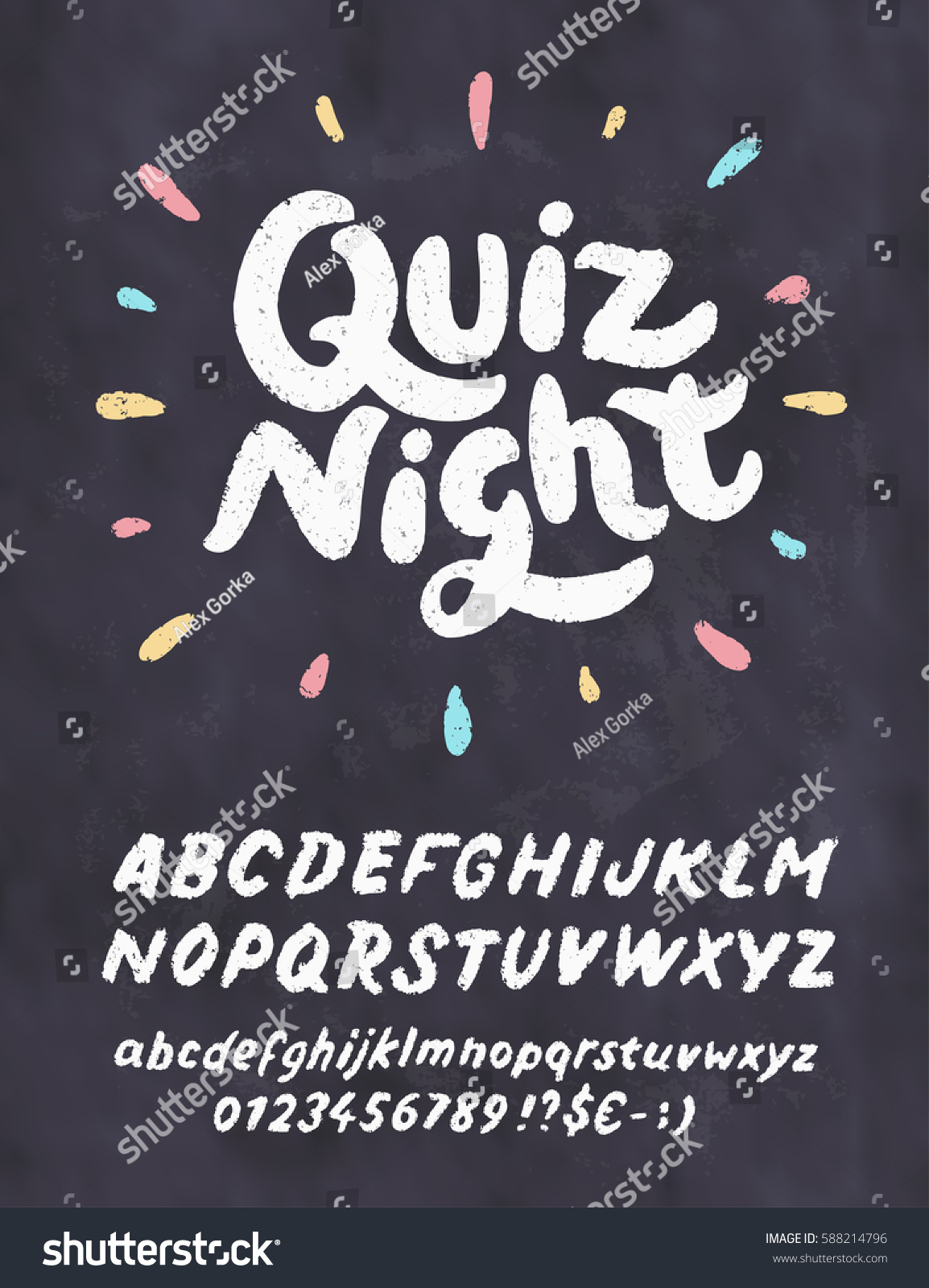 Quiz Night Chalkboard Sign Stock Vector HD (Royalty Free) 588214796 ...