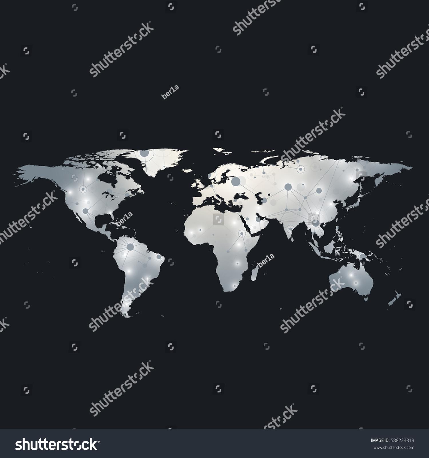Political world map global technology networking stock vector political world map global technology networking stock vector 588224813 shutterstock gumiabroncs Choice Image