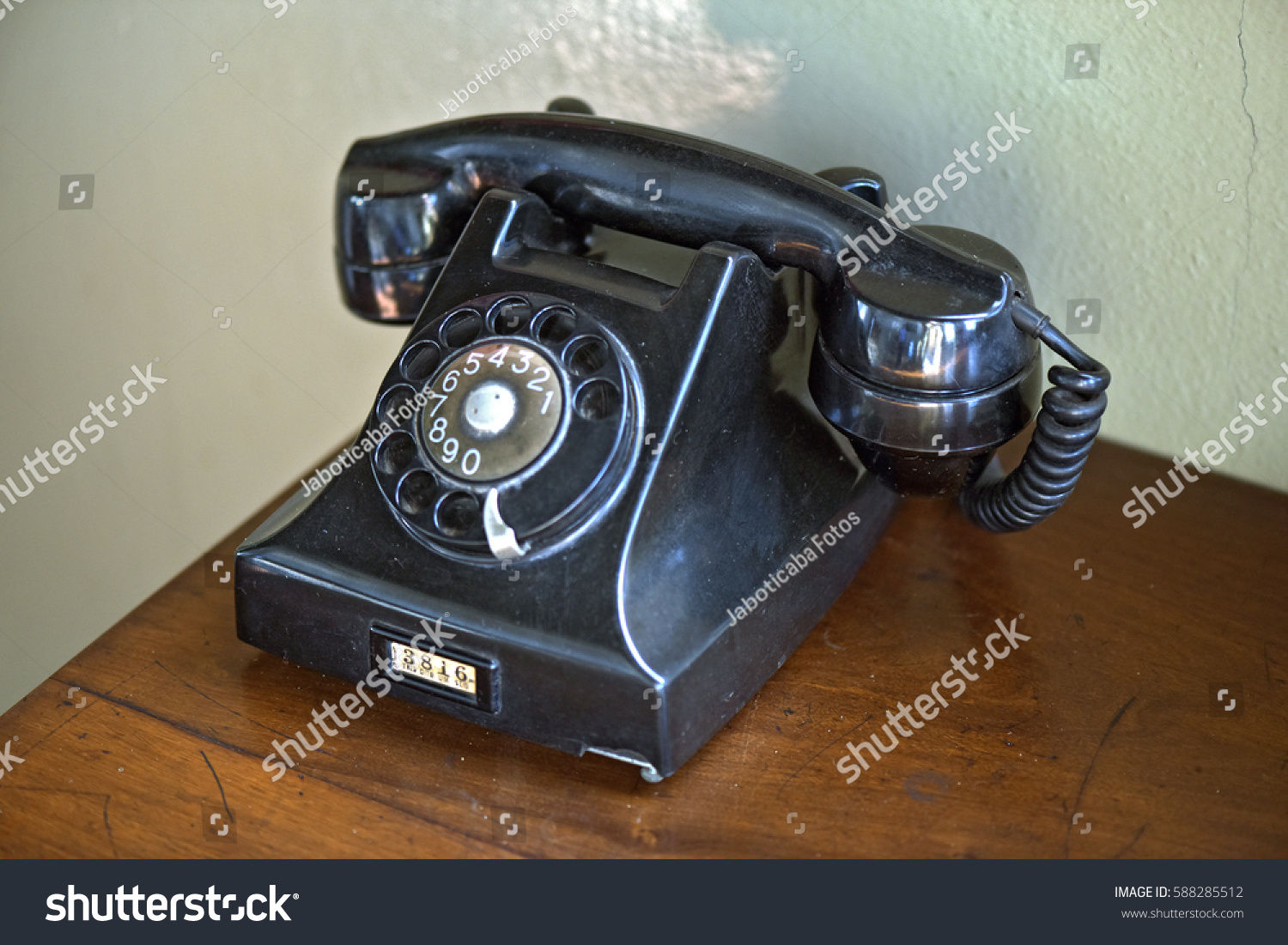 Old Rotary Dial Telephone Exposed Decoration Stock Photo Edit Now