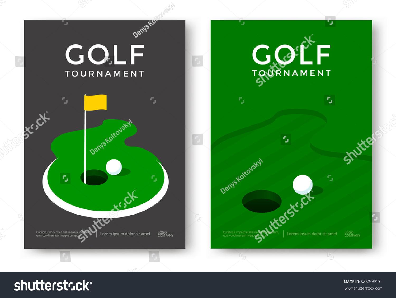 Poster design vector - Golf Tournament Poster Design Template Vector Sport Flyer
