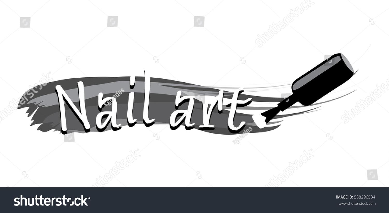 Nail art logo design stock vector 588296534 shutterstock nail art logo design prinsesfo Choice Image