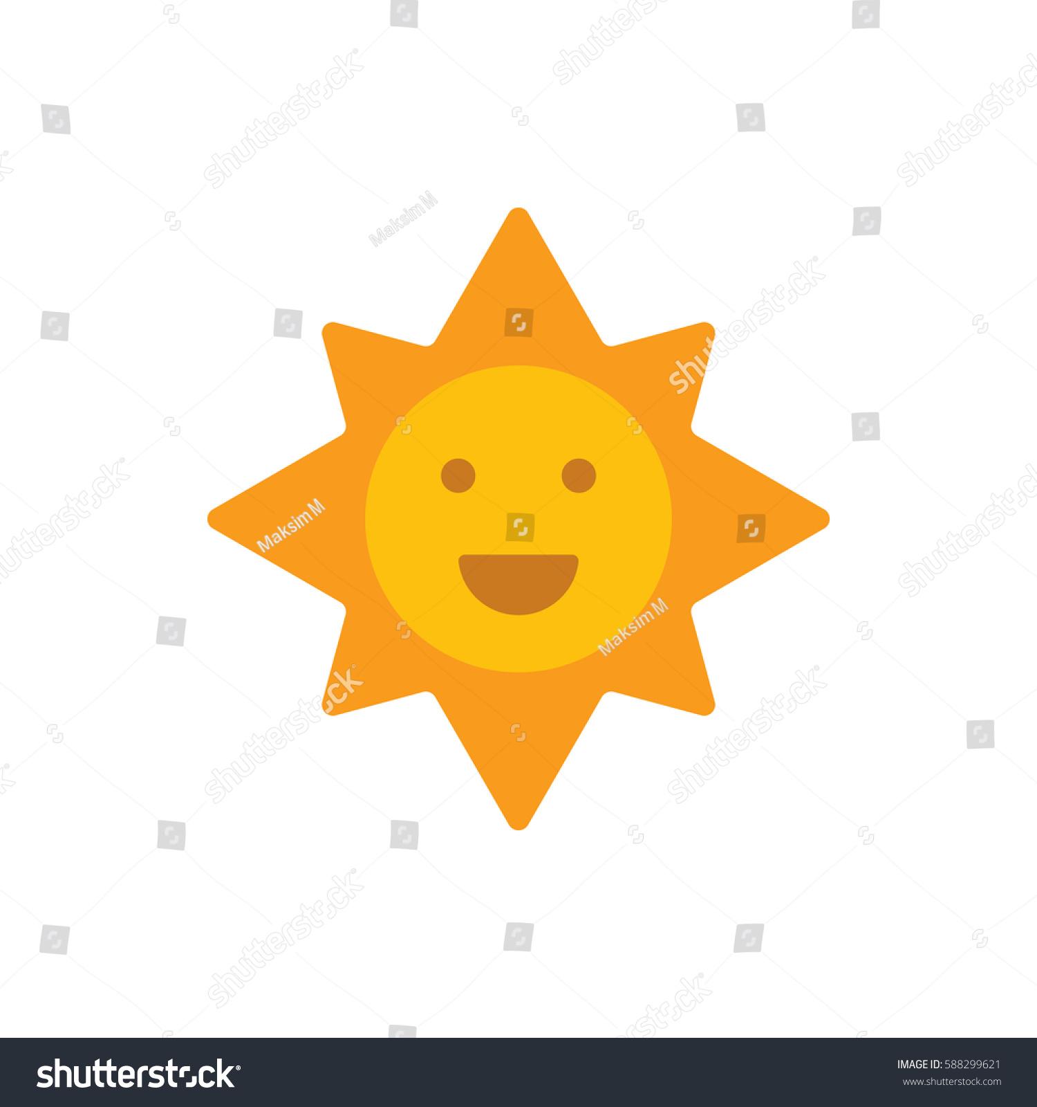 Smiling Sun Emoji Icon Happy Sun Stock Vector (Royalty Free