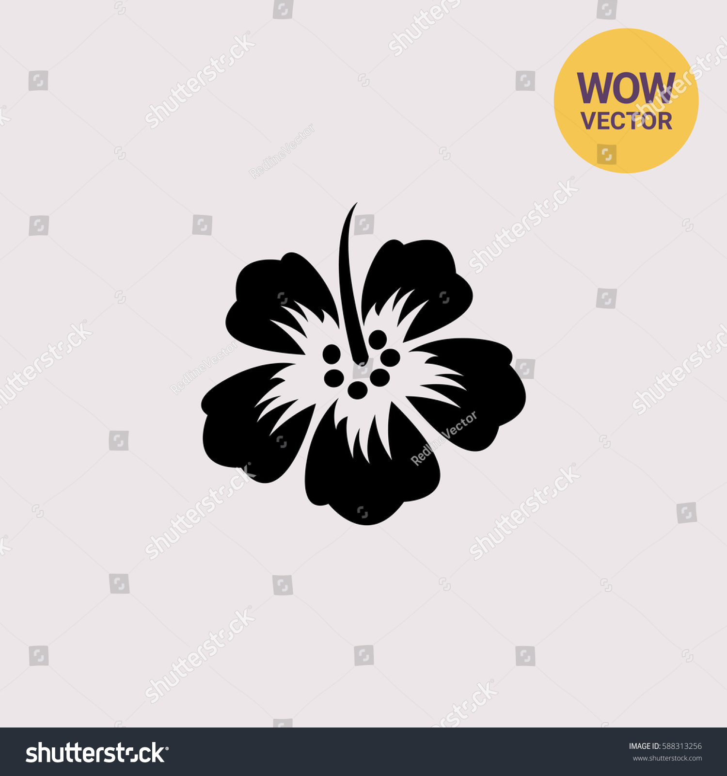 Hibiscus Flower Vector Logo Ez Canvas