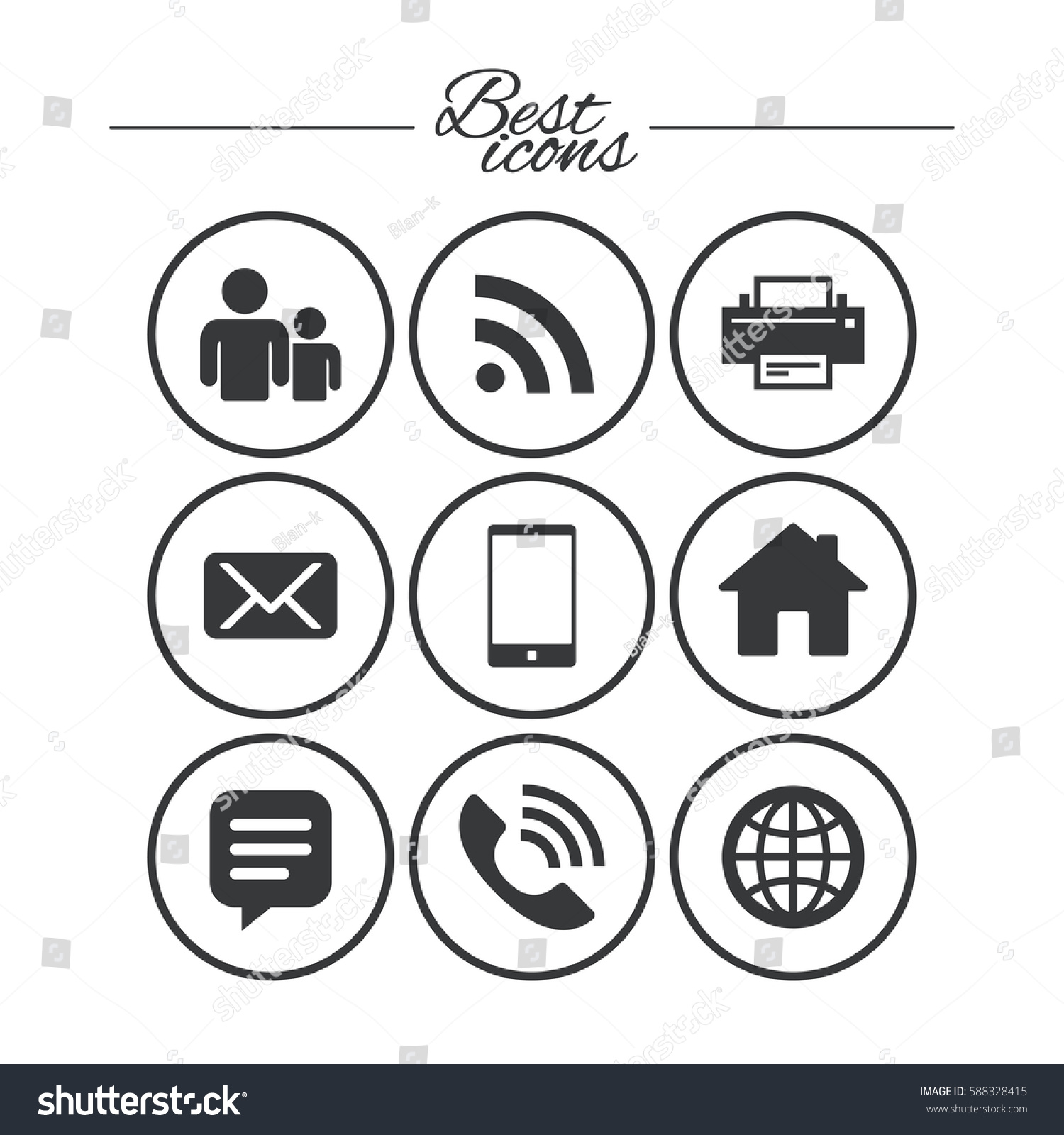 Contact mail icons communication signs email stock vector communication signs e mail chat message and phone biocorpaavc Gallery