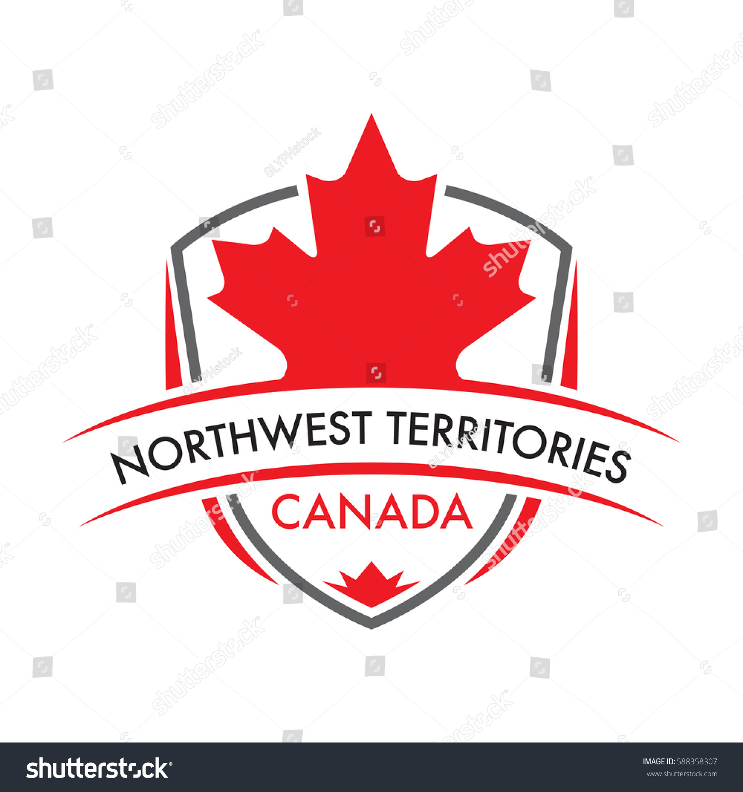 Canadian territory crest vector format featuring stock vector a canadian territory crest in vector format featuring a large maple leaf and text that reads biocorpaavc Choice Image