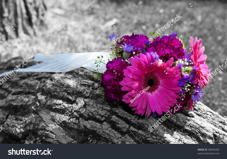 Beautiful Bridal Bouquet Left Sitting On Stock Photo Edit Now