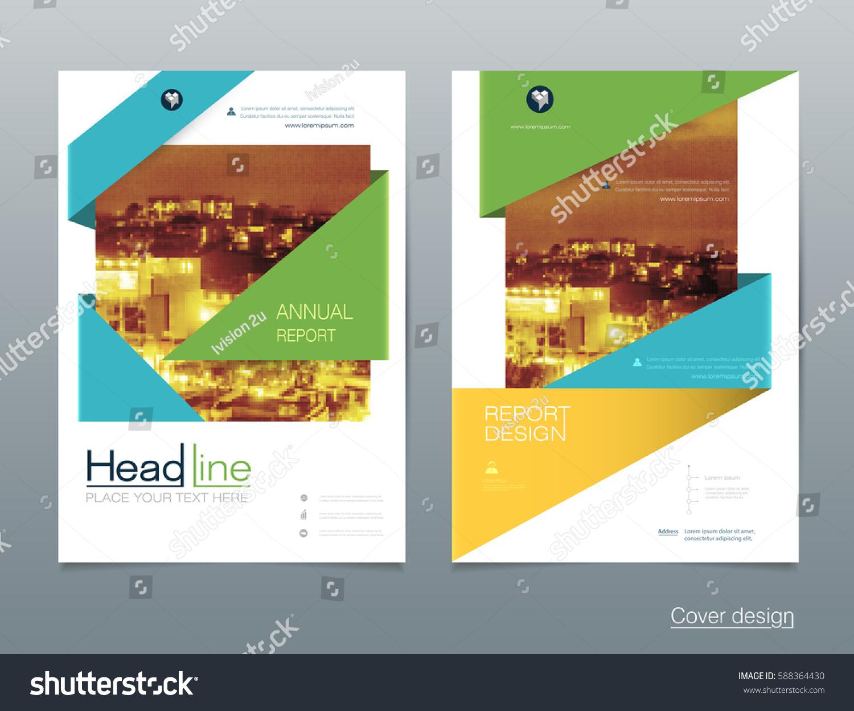 vector design brochure flyer business annual stock vector royalty