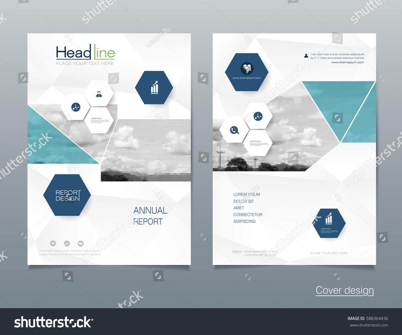 vector design brochure flyer business annual のベクター画像素材