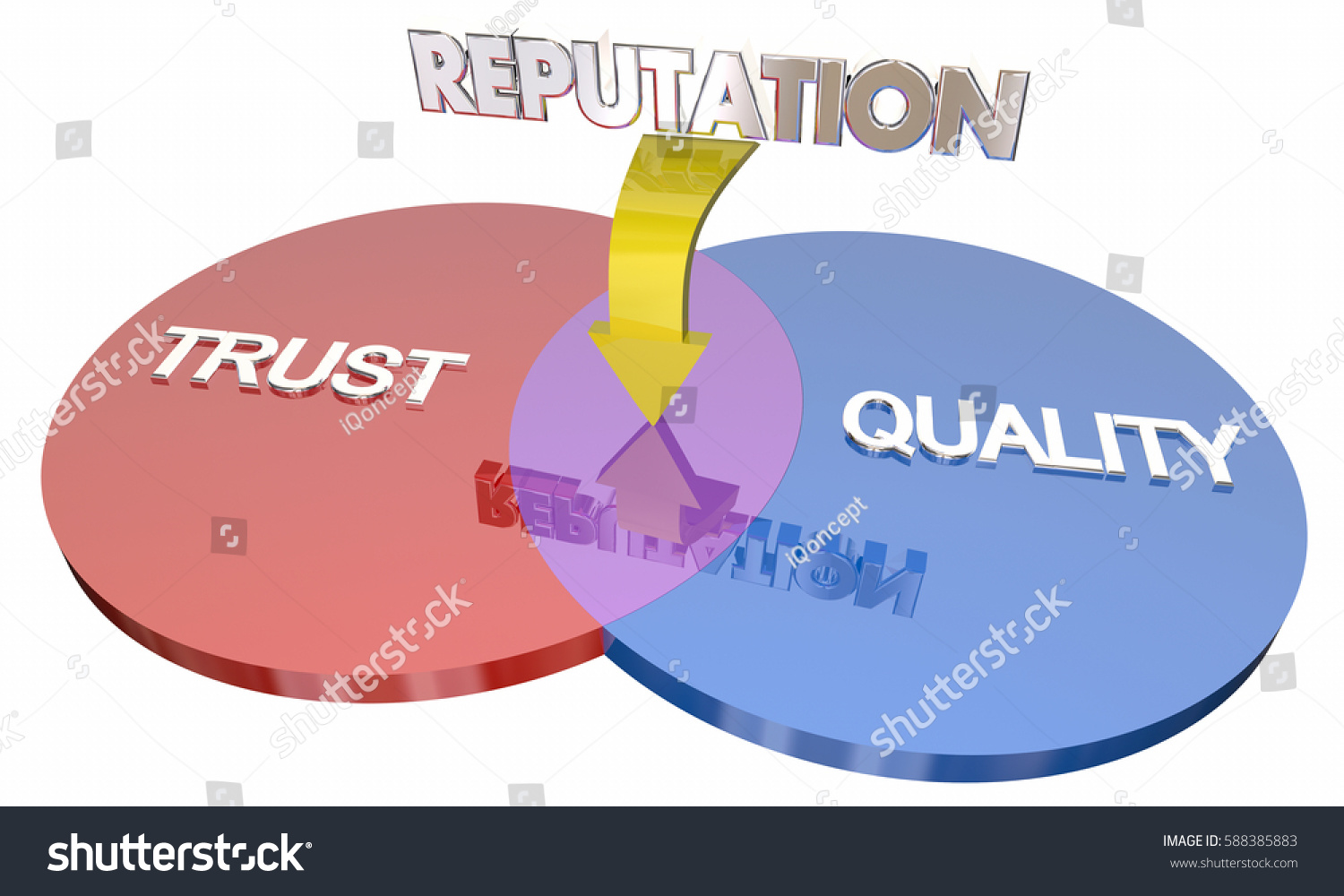 Trust quality reputation venn diagram best stock illustration trust quality reputation venn diagram best company 3d illustration pooptronica