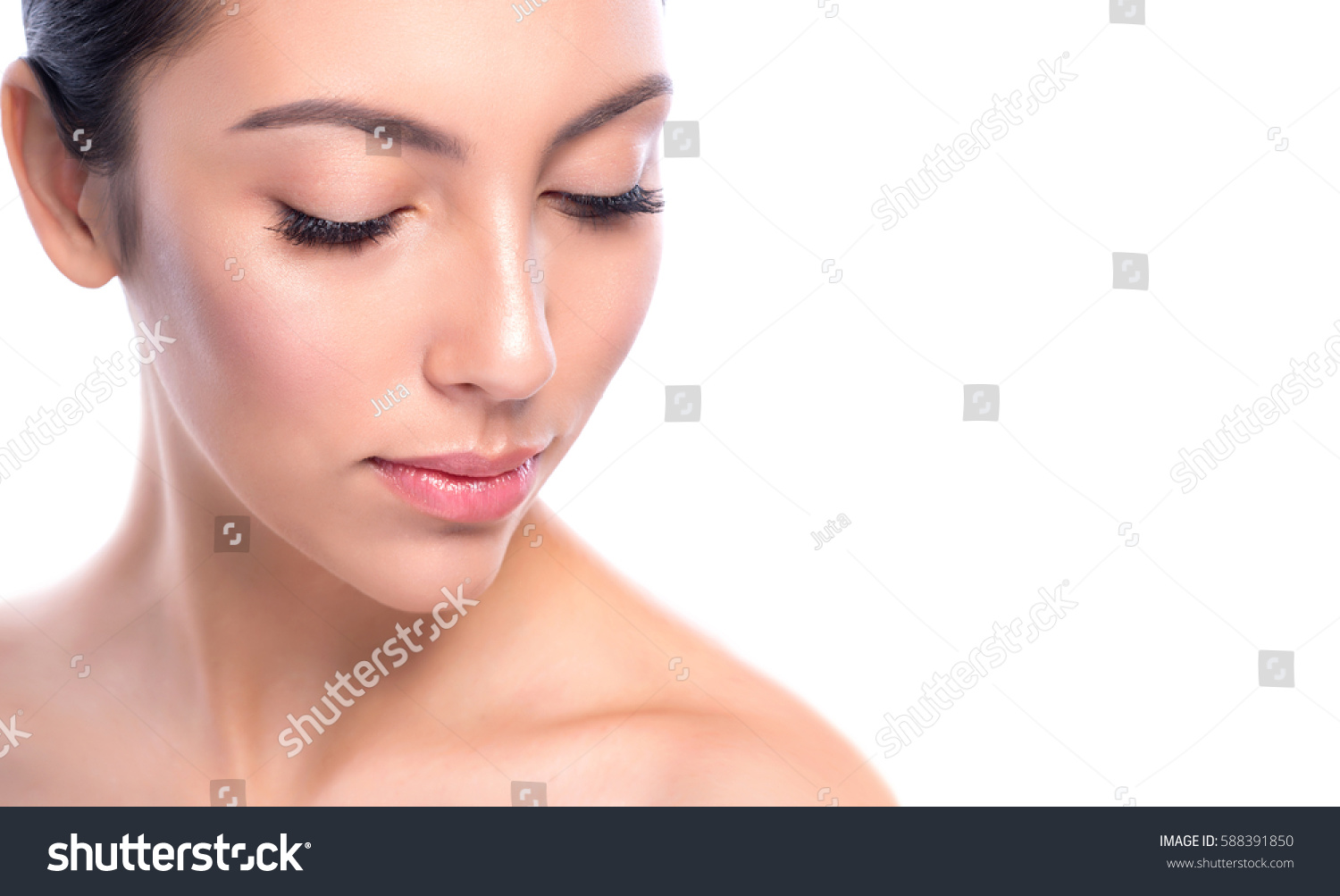 Beauty Smiling Model Natural Nude Make Stock Photo Edit Now