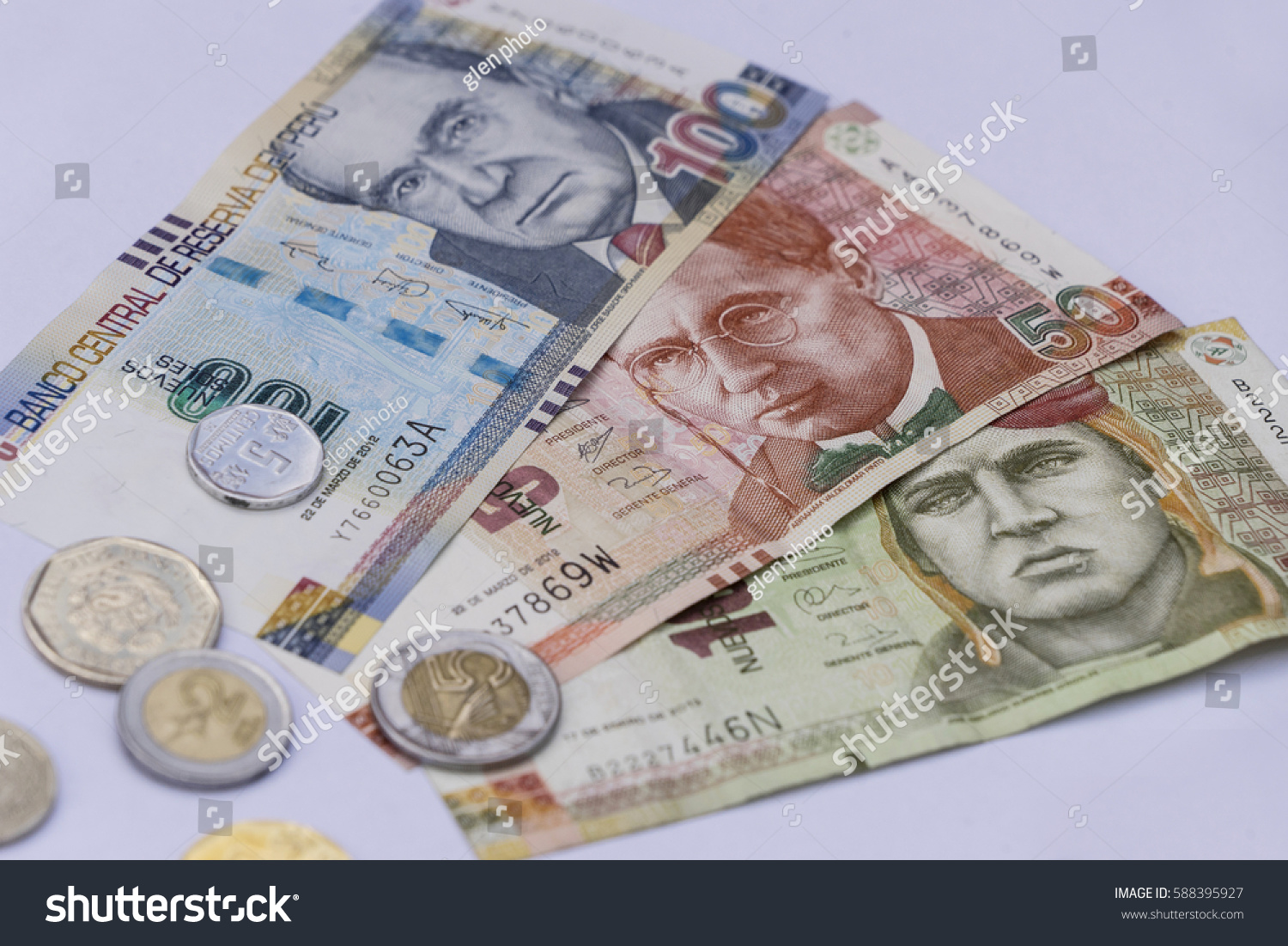 Peruvian bank notes nuevos soles currency stock photo royalty free peruvian bank notes nuevos soles currency from peru money coins altavistaventures Images