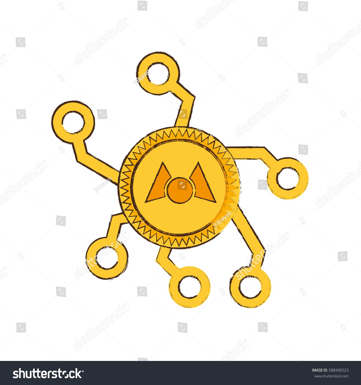 Drawing Mastercoin Web Icon Vector Illustration Stock Vector 588406523 - Shutterstock