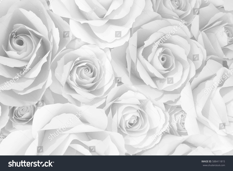 White Plastic Roses Ez Canvas