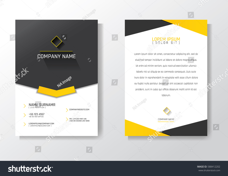 Name Card Modern Design Creative Business Stock Vector 588412202 ...