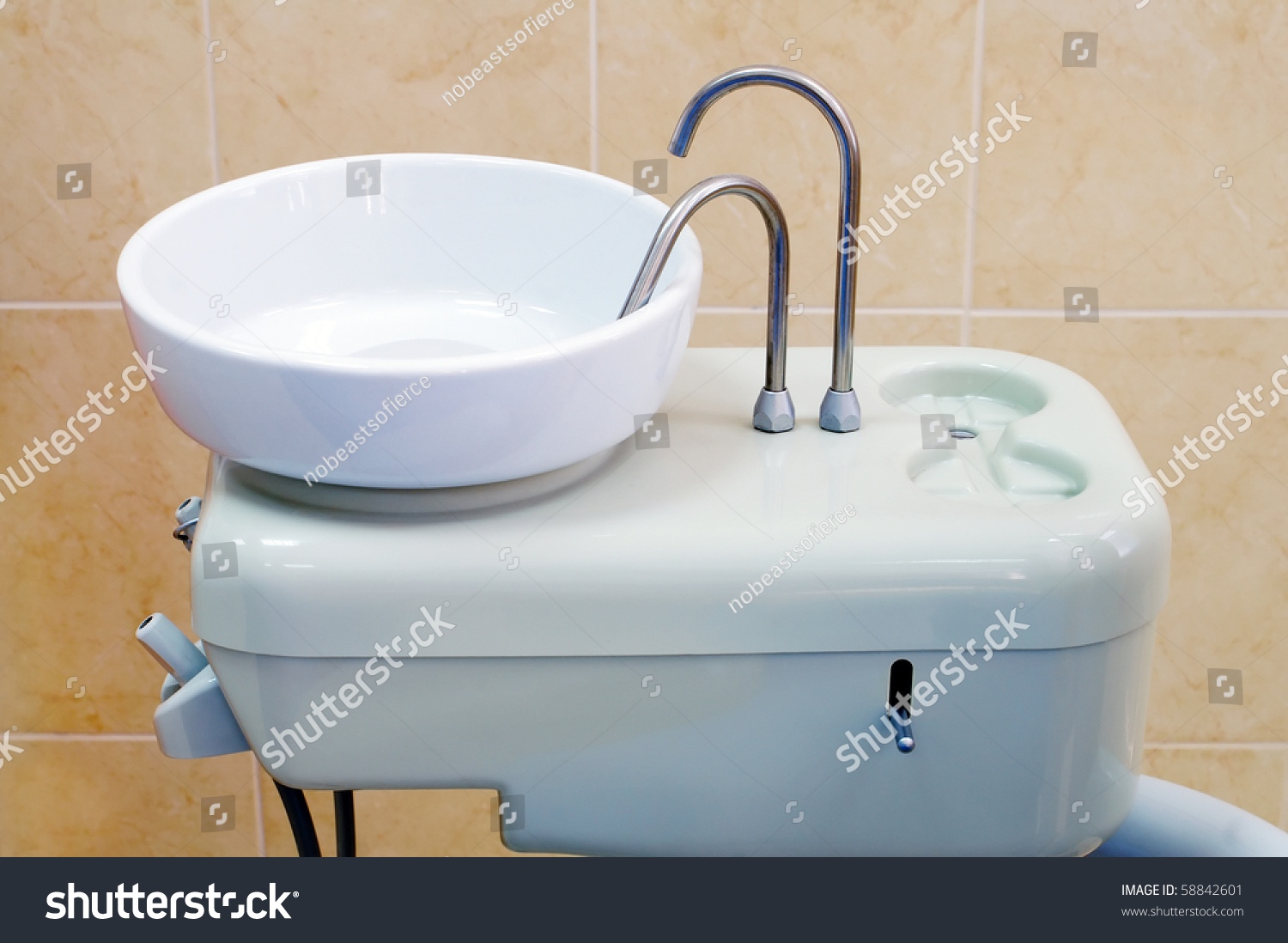 Spit Sink Dental Chair Equipment Seen Stock Photo (Royalty Free ...