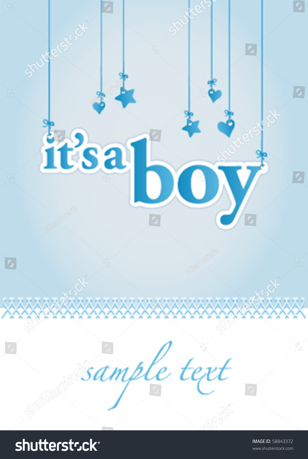 baby boy arrival announcement card perfect stock vector 58843372 shutterstock. Black Bedroom Furniture Sets. Home Design Ideas