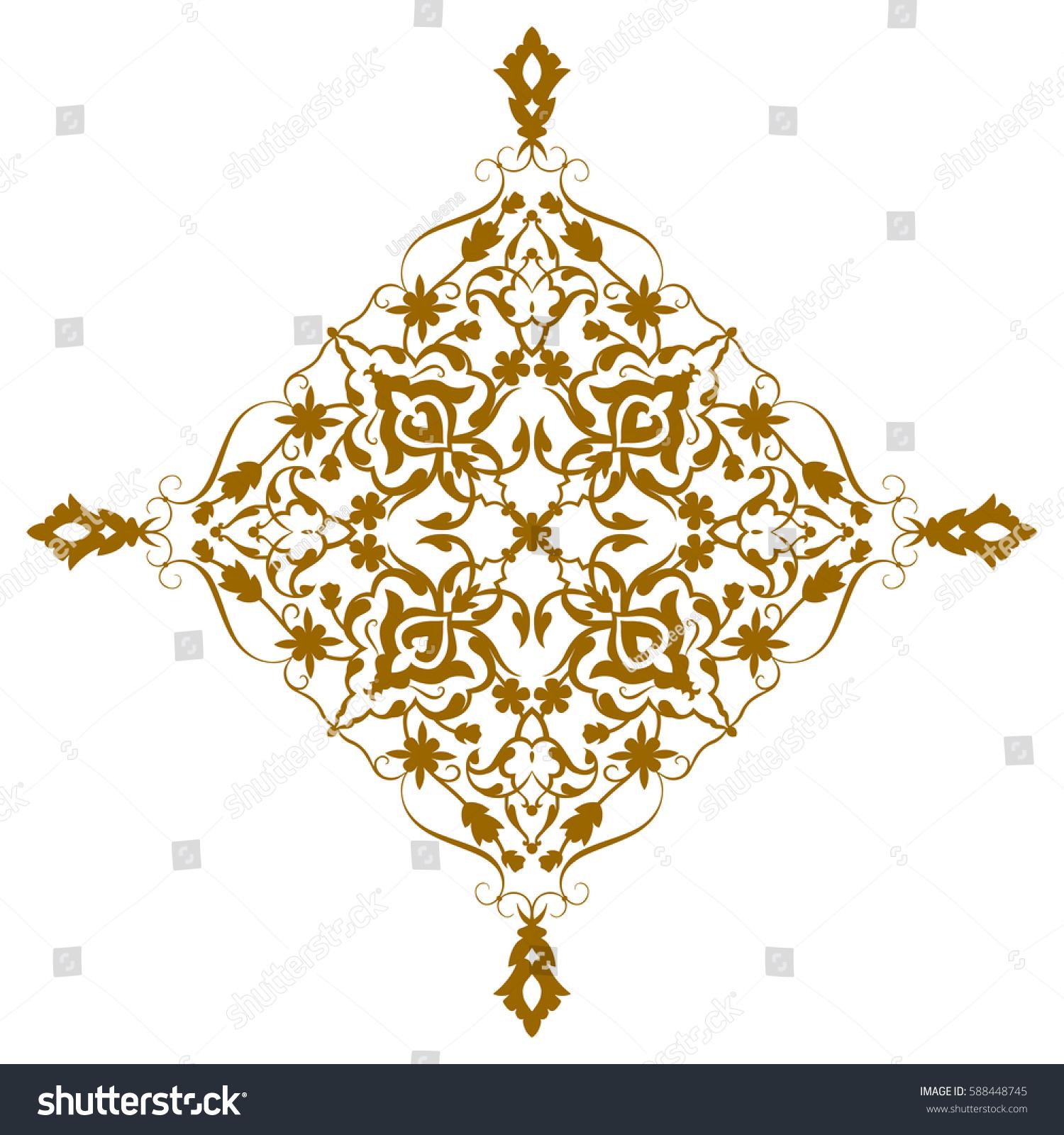 Geometric Islamic Pattern Arabesque Brown White Stock Vector ...