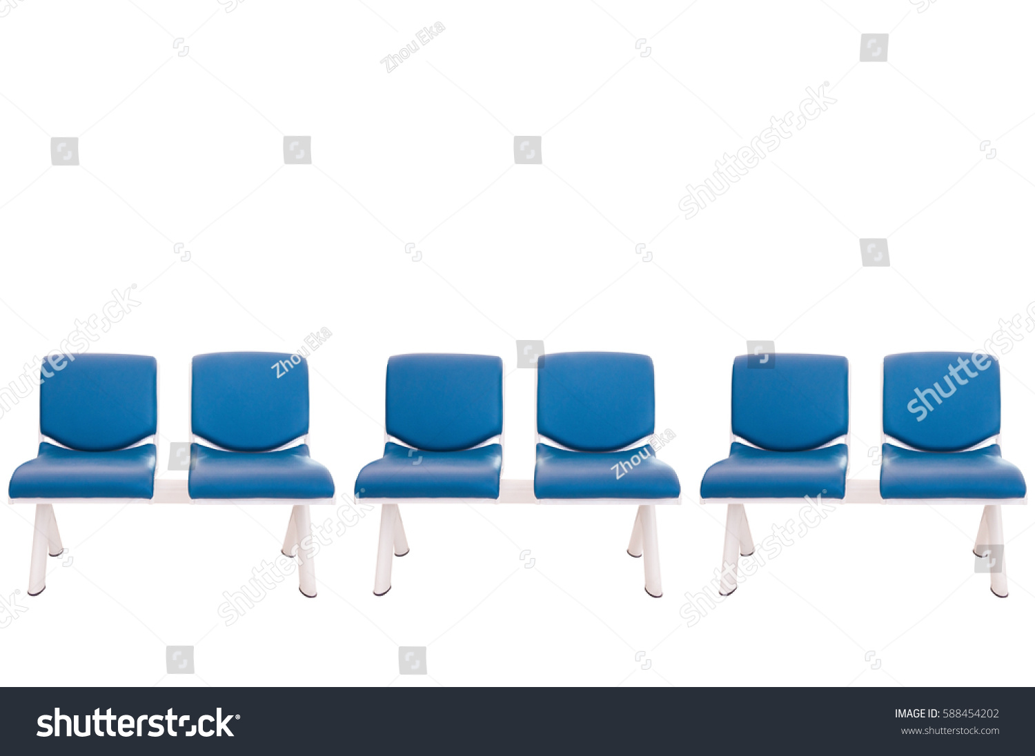 Leather Bench Chair Cover Blue Leather Stock Photo