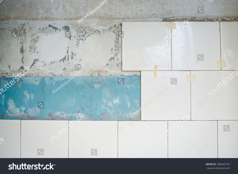 Close Vintage Wall Bathroom Ceramic White Stock Photo (Royalty Free ...