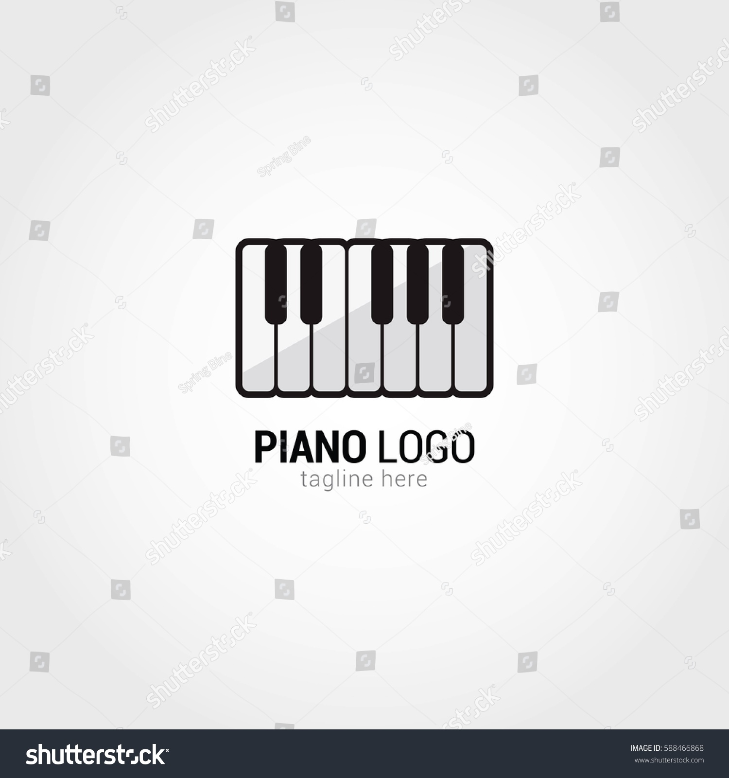 piano logo design template vector illustration stock vector 588466868 shutterstock. Black Bedroom Furniture Sets. Home Design Ideas