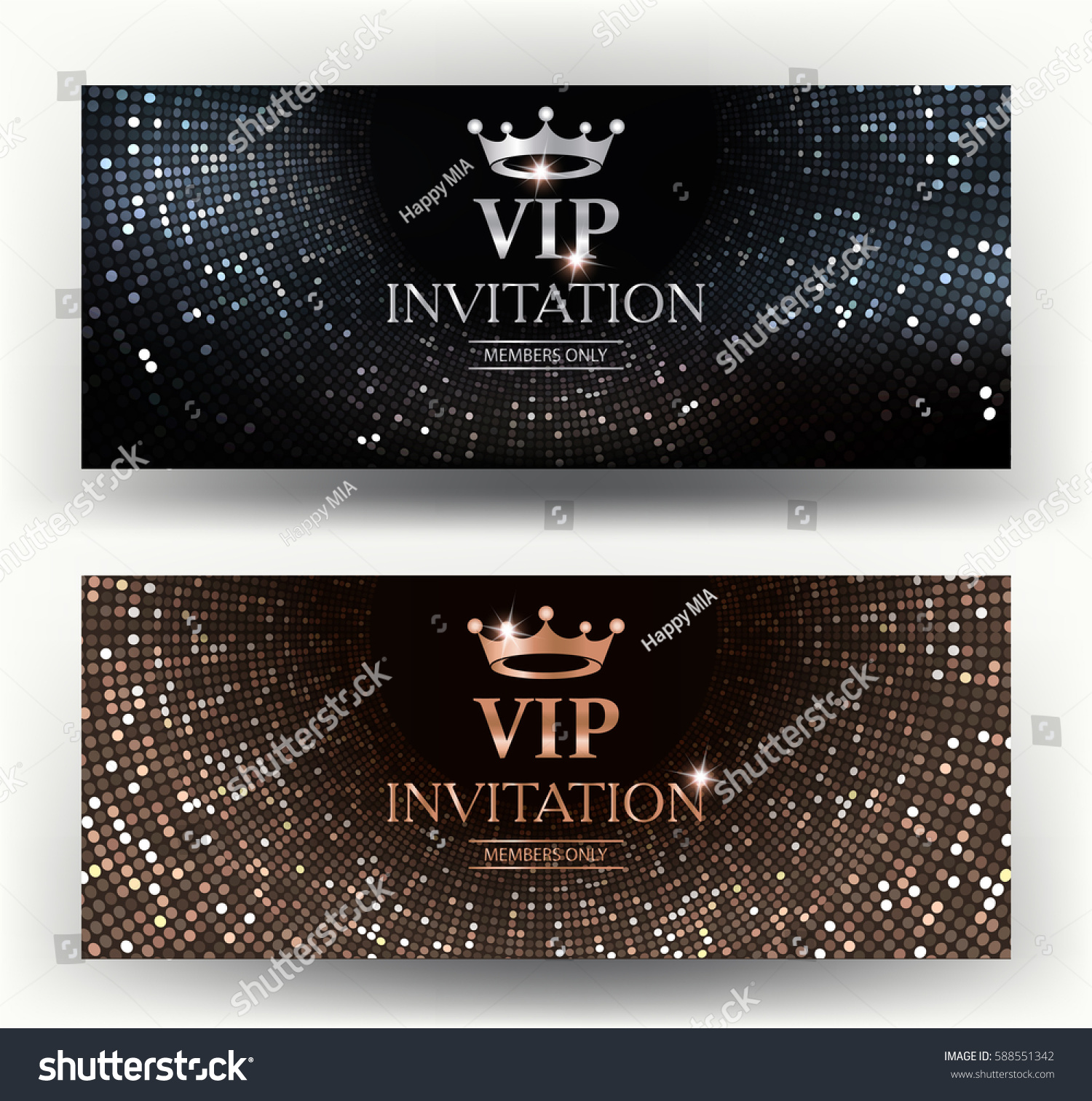Vip elegant invitation cards abstract background imagem vetorial de vip elegant invitation cards with abstract background vector illustration stopboris Image collections